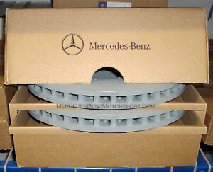 Mercedes OEM Front Brake Rotors Disks 2015-2020 C 300 400 Sedan W/Sprt Pkg-2 Set