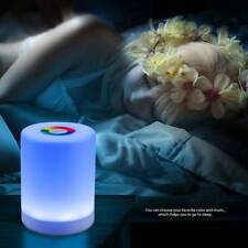 LED Night Light Bedside Table Touch Lamp USB Rechargeable Warm White RGB Dimmer