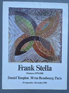 Frank Stella  - Vintage French exhibition Poster 1981 Pop Art Templon