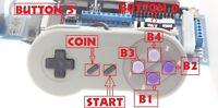 Pack adaptateur Nintendo SNES vers neo geo et supergun + autofire + Manette SNES