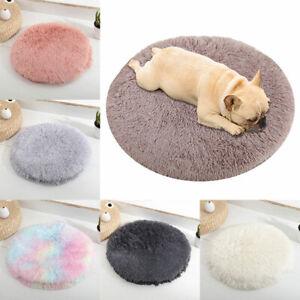 Soft Plush Pet Puppy Mat Dog Bed Round Cushion Cat Warm Winter S/M