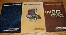 Original 1976 1977 Honda Civic CVCC Sales Brochure Lot of 3 76 77