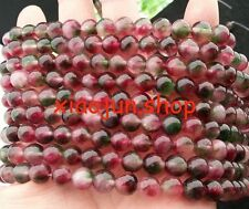 Natural 8mm Multicolor Tourmaline Round Loose Beads 15'' AAA
