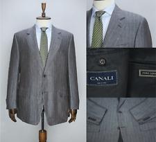 Lux CANALI Gray PURE LINEN Striped Blazer Jacket Sport Coat 54 IT 44 US/UK