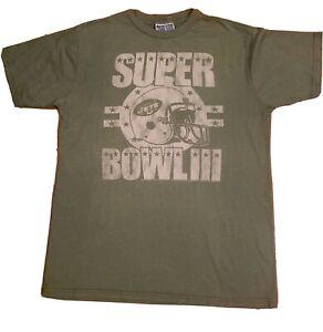 Mens (M) Medium Distressted Style Super Bowl 3 (III) Jets T Shirt (New w/o Tags)