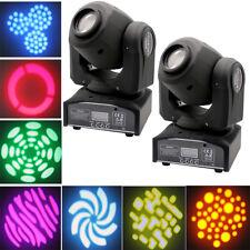 2X 30W RGBW LED GOBO Spot Bühnenlicht Spot Moving Head Bühnenbeleuchtung Stage