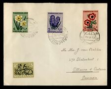 DR WHO SEMIPOSTALS 1953 NETHERLANDS GRAVENHAGE TO CANADA C242617