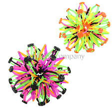 LOT OF 2X EXPANDABLE TRANSFORMING EXPANDING SPHERE BALL FUN TOY- PURPLE & YELLOW