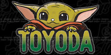 BABY TOYODA Sticker Decal Die-Cut FITS on TOYOTA FJ CRUISER TACOMA 4RUNNER YODA