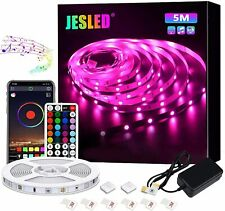 JESLED 5m Wireless Bluetooth LED Light Strip for Bedroom