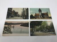 Steubenville Ohio OH Lot of 4 antique Postcards Horse and Buggy circa 1900s