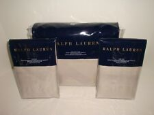 Ralph Lauren Park Avenue Modern Justina King Duvet + Shams Nip Taupe Cotton