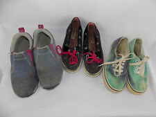 Lot of 3 Kids Sperry Merrell Vans Shoes Size 1 1.5