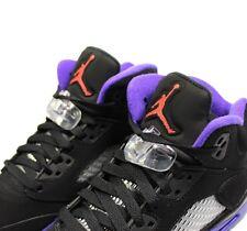 Nike Air Jordan 5 Retro GG UK 6 EUR 39 Black Ember Glow Purple 440892 017 CM 24.