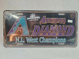 Vintage(NEW)1999 Arizona Diamondbacks N.L. West Champion Metal License Plate MLB
