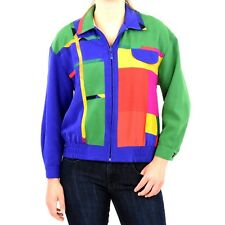 80s Vintage Womens Colorblock Jacket Mod Artsy Geometric New Wave PXS Bomber 4P