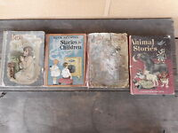 Bible Stories Children's Mixed Lot of 4 Vintage Books VERY bad shape musty etc
