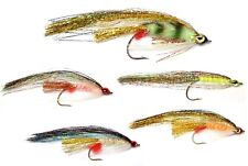 """gold back 6//0 circle hook 7//8/""""inch made in scotland Fluro green PIKE FLY"""