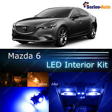 9x Ultra Blue LED Lights Interior Package Kit for 2014 -  2017 Mazda 6