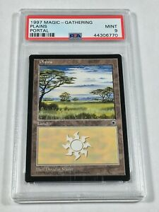 Graded Plains B PSA 9 MINT Portal 1997 MTG Magic Card Vintage Pop 4 (1 Higher)!