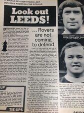 J1-5 Ephemera 1972 Football Article Leeds V Bristol Rovers Brian Godfrey W Jones