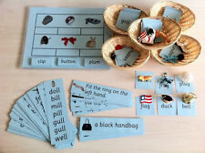 Montessori Blue Language Series Phonics Educational Kit