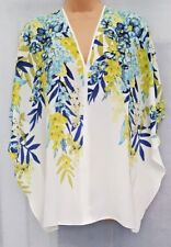 WALLIS ** SIZE UK SMALL 8 - 10 ** WHITE LEAF PLACEMENT KAFTAN TOP BNWT
