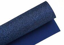 Navy blue SAFE Sparkly Glitter Felt fabric sheet DIY Felt craft Sparkles FH