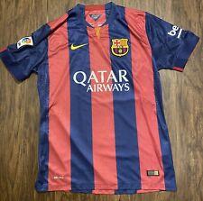 Nike Barcelona FC 2014 2015 Home La Liga Jersey Used Size Large Maroon Blue
