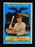 1959 TOPPS BASEBALL #560 LUIS APARICIO ALL STAR VG+