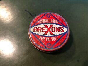 barattolo in latta VINTAGE arexons carbosilicium per valvole DA COLLEZIONE epoca