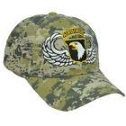 U.S 101st Airborne Digital Camo Camouflage Curved Bill Adjustable Hat Cap Milita