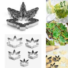 Marijuana Pot Leaf Cookie Cutter Set of 5Pcs Cannabis Weed Maple Shaped Leaf USA