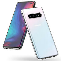 CLEAR Case For Samsung Galaxy S10 Plus S10e S9 S8 Silicone Gel Shockproof Cover