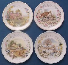 FULL SET ROYAL ALBERT COTTAGE GARDEN FOUR SEASONS CHINA PLATES FRED ERRILL 1984