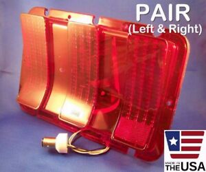 PAIR 1967 MUSTANG SEQUENTIAL LED BRAKE & TAIL LIGHTS WITH LENSES & FLASHER 67