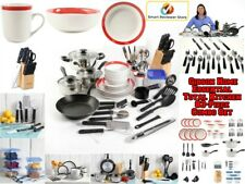 83 Piece Non-Stick Cookware Set Kitchen Steel Pots and Pans Cooking Combo Set