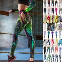 Damen Leggings Leggins Sport Hose Fitness Stretch Gym Yoga Jeggings Laufhose Neu