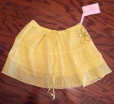 NWT BROOKLYN GIRL 100% Cotton LOWRISE Yellow  Summer MINI SKIRT Size M