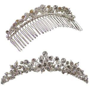 Exquisite Jane Wedding Comb Tiara (Silver) (e2059hs)