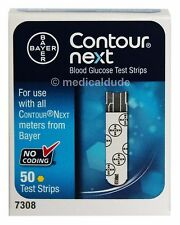 Bayer Contour Next Blood Glucose 50 Test Strips Exp 1-Year+