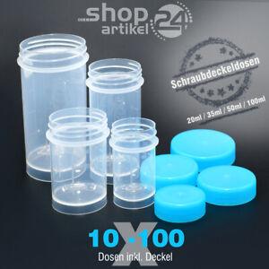 VERSCHLUSSDOSEN Kunststoffdosen Schraubdosen Runddosen Behälter aus PP + Deckel