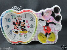 NEW MICKEY MOUSE  ALARM CLOCK/DESK-TABLE CLOCK-Gift Idea