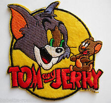 PATCH écusson APPLIQUE thermocollant ** 8 x 8 cm ** ROND CHAT SOURIS TOM JERRY