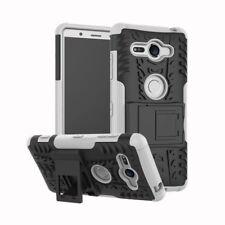 Etui Hybride 2 PIÈCES EXTÉRIEUR BLANC housse étui pour Sony Xperia XZ2 compact