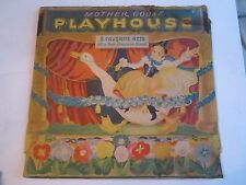 "1930'S MOTHER GOOSE PLAYHOUSE - BY GERALDINE CLYNE - 13"" X 13""-1 SCENE -TUB OFC"