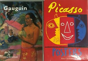 Lot Of 2 Hardcover Art Book Gauguin And Picasso Posters