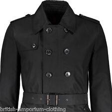JOHN RICHMOND Short Black Padded Belted Rain Coat UK36 IT46 Made In Italy BNWT