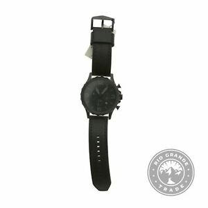 NEW Fossil JR1354 Nate Chronograph Quartz Watch in Black Stainless Steel