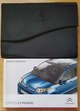 GENUINE CITROEN C3 PICASSO OWNERS MANUAL HANDBOOK WALLET 2013-2017 REF E-220